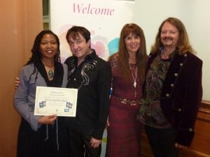 Marilyn Devonish with Doreen Virtue & Radleigh Valentine Certification Class