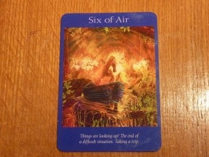 Six of Air Tarot Card - Things are looking up!