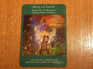 King of Earth Tarot Time - A successful time.