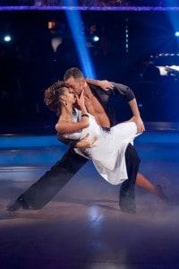 Kara Tointon and Artem Chigvinstev at the 2010 Strictly Come Dancing Final