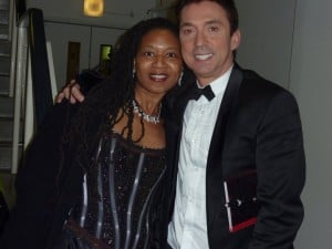 Marilyn Devonish backstage with Strictly Come Dancing Judge Bruno Tonioli
