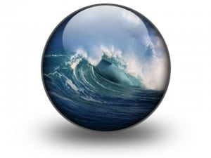 Crashing waves in a crystal ball
