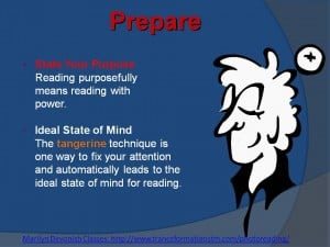 PhotoReading Step 1 - Prepare & Set Your Purpose