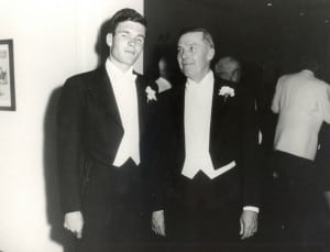 Ted Turner with his Father on his Wedding Day