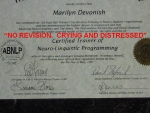 NLP Trainers Training Certificate