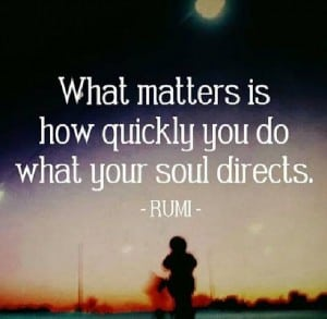 Rumi and the direction from your soul.