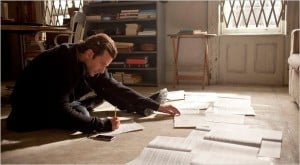 Bradley Cooper absorbing books and data