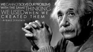Einstein on problem solving and thinking.