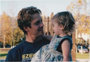 The Actor late Paul Walker with his daughter Meadow Walker.