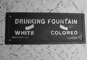 Black and white segregation