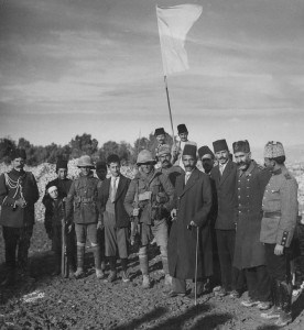 World War White Flag British soldiers in Jerusalem