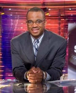 Stuart Scott on the ESPN Newsdesk doing what he loved