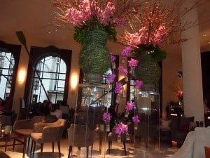 One Aldwych Hotel Lobby Flower Display