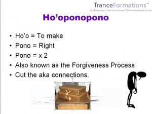 The underlying meaning of the Ho'oponopono Forgiveness Process