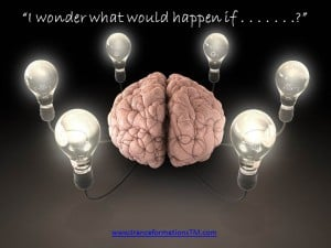 "Lighting up the brain with the question: ""I wonder what would happen if . . . ?"""