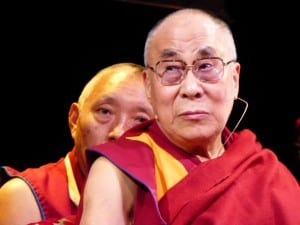 The Dalai Lama in synchronistic flow with his translator