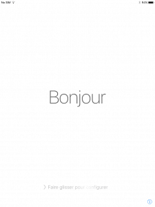 Bonjour from my English iPad.
