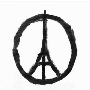 Paris and the symbol of Peace.