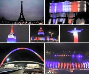 Paris - The World lights up as one.