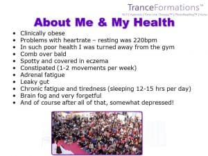 The #HealthTranceFormation picture that started it all . . .
