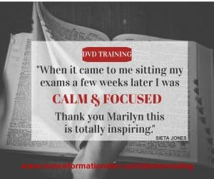 When it came to me sitting my exams I was calm and focused.